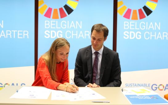 CAP officially signed the belgian SDG charter under the watchful eyes of Minister De Croo