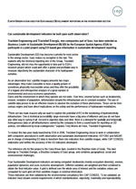 «Can sustainable development indicators be built upon earth observation?» (Earth Observation used for Sustainable Development reporting in the hydropower sector