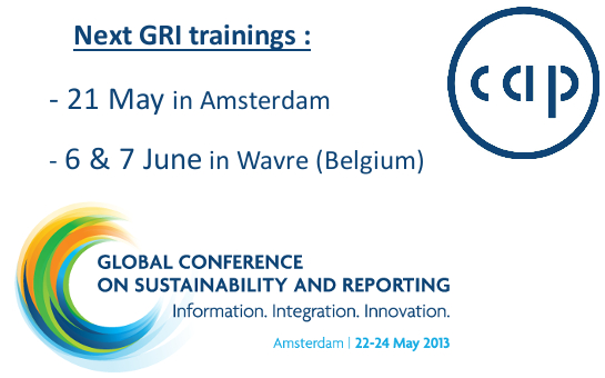 GRI Trainings may & june 2013