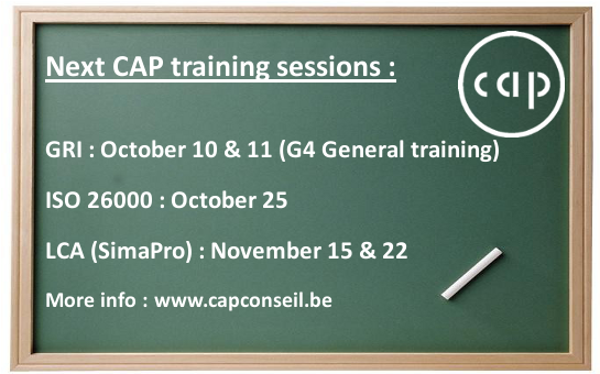 CAP Academy: Next training sessions