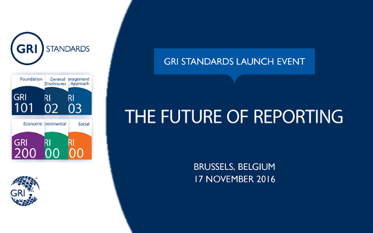 GRI standards launch event Brussels